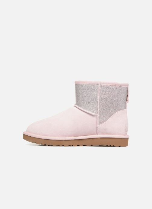 Bottines et boots UGG W Classic Mini UGG Sparkle Rose vue face