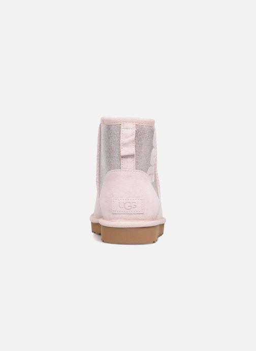 Botines  UGG W Classic Mini UGG Sparkle Rosa vista lateral derecha