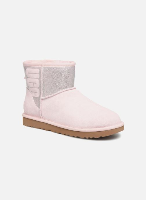 Stiefeletten & Boots UGG W Classic Mini UGG Sparkle rosa detaillierte ansicht/modell