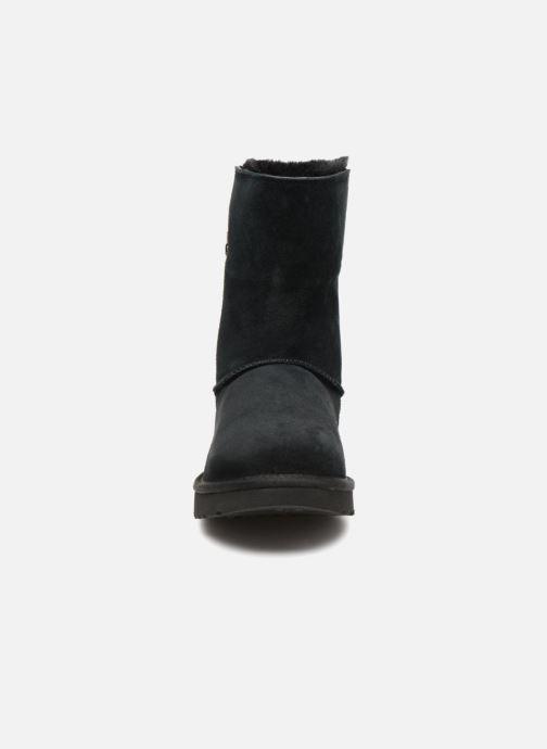 Stiefel UGG W Classic Short Sparkle Zip schwarz schuhe getragen