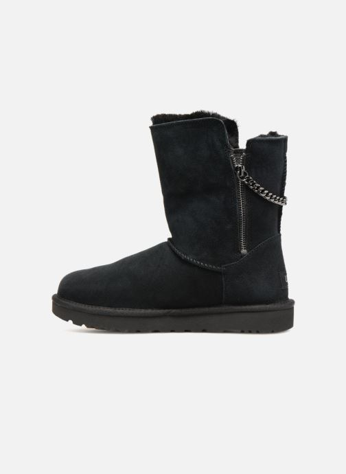 Stiefel UGG W Classic Short Sparkle Zip schwarz ansicht von vorne