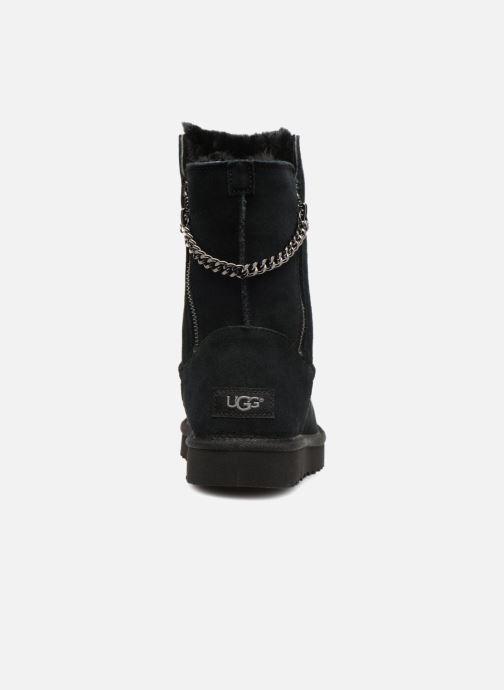 Bottes UGG W Classic Short Sparkle Zip Noir vue droite