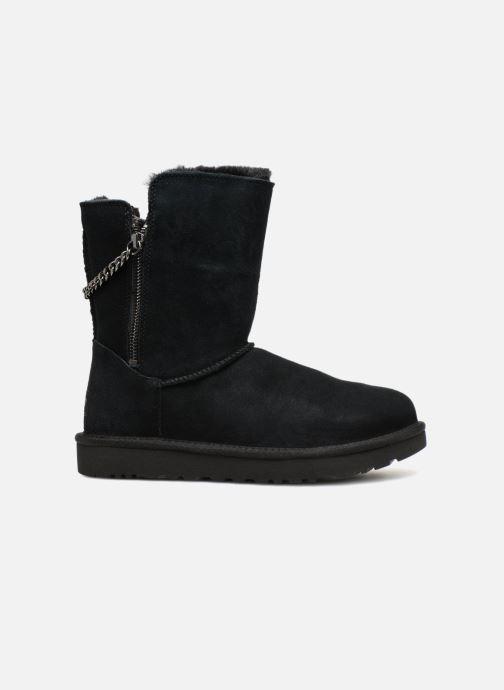 Stiefel UGG W Classic Short Sparkle Zip schwarz ansicht von hinten