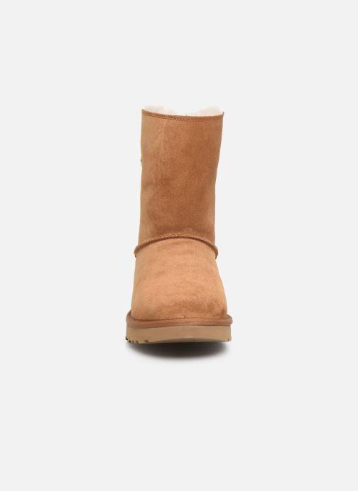 Bottes UGG W Classic Short Sparkle Zip Marron vue portées chaussures
