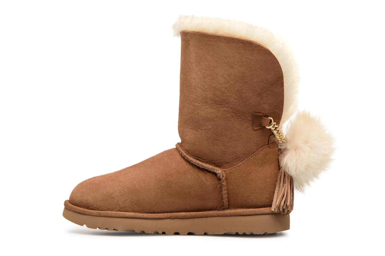 Bottes UGG W Classic Charm Boot Marron vue face