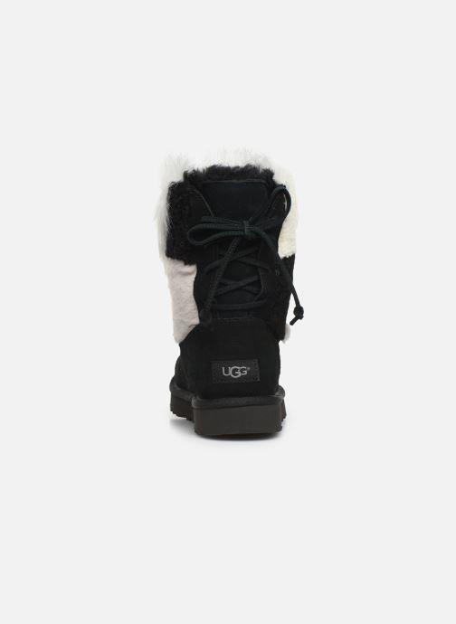 Bottines et boots UGG W Classic Short Patchwork Noir vue droite