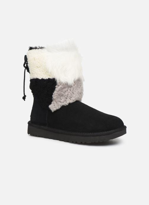 Bottines et boots UGG W Classic Short Patchwork Noir vue détail/paire