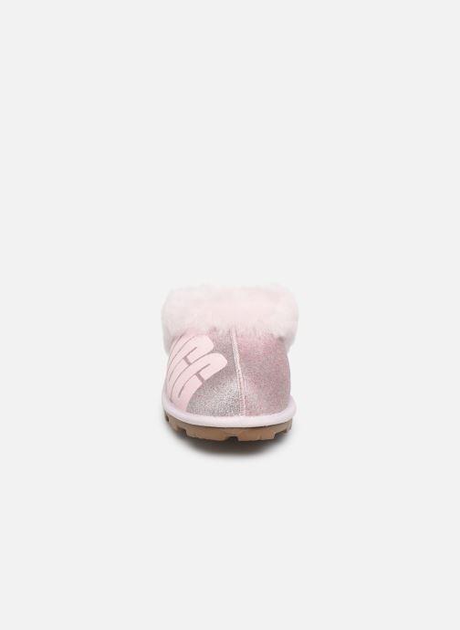 Pantofole UGG W Coquette UGG Sparkle Rosa modello indossato