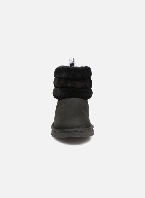 Boots en enkellaarsjes UGG W Fluff Mini Quilted Zwart model