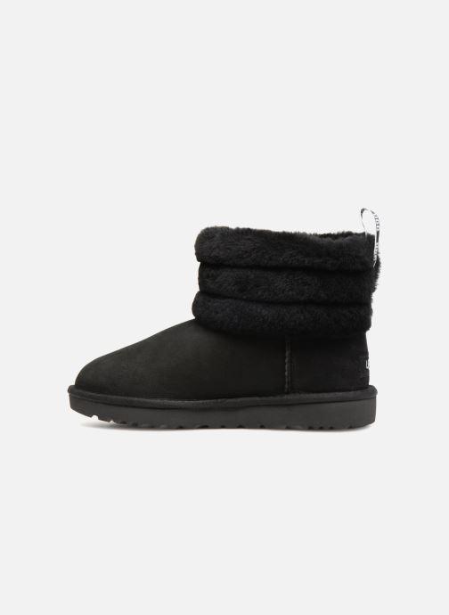 Boots en enkellaarsjes UGG W Fluff Mini Quilted Zwart voorkant