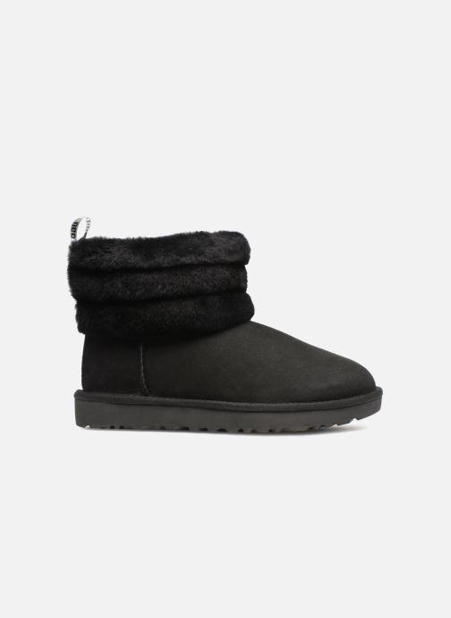 Bottines et boots UGG W Fluff Mini Quilted Noir vue derrière
