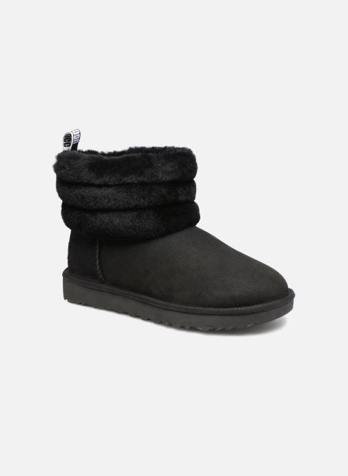 Bottines et boots UGG W Fluff Mini Quilted Noir vue détail/paire
