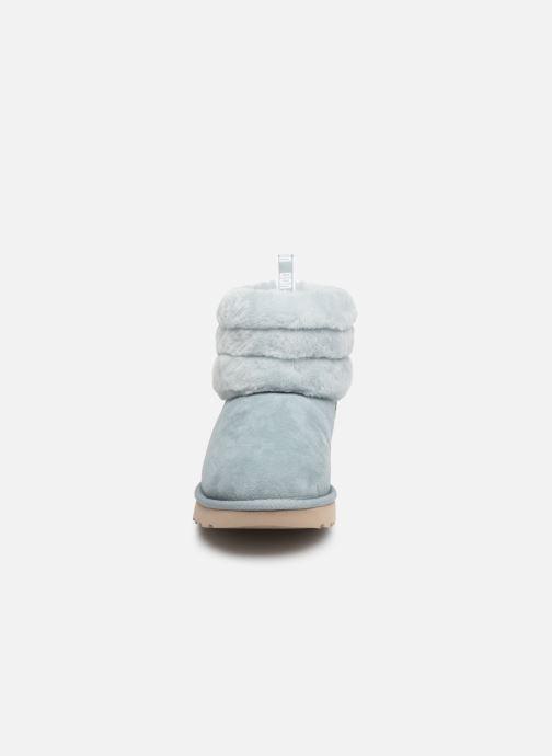 Bottines et boots UGG W Fluff Mini Quilted Bleu vue portées chaussures