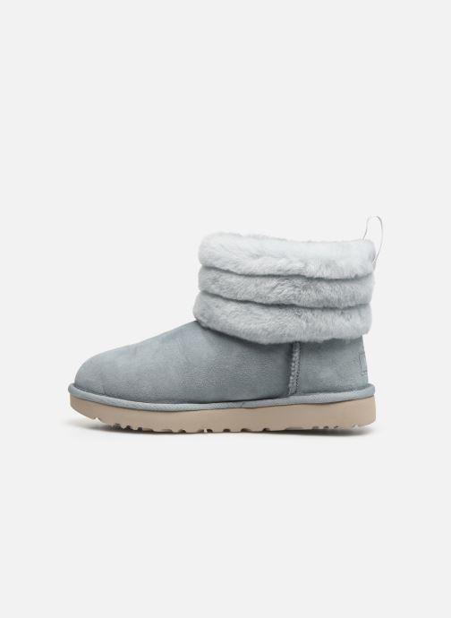 Bottines et boots UGG W Fluff Mini Quilted Bleu vue face