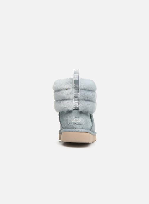 Botines  UGG W Fluff Mini Quilted Azul vista lateral derecha