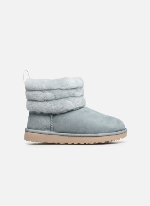 Botines  UGG W Fluff Mini Quilted Azul vistra trasera