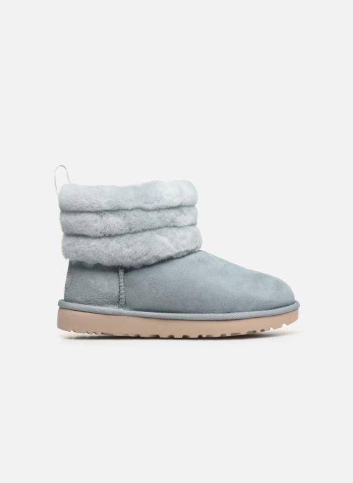 Bottines et boots UGG W Fluff Mini Quilted Bleu vue derrière