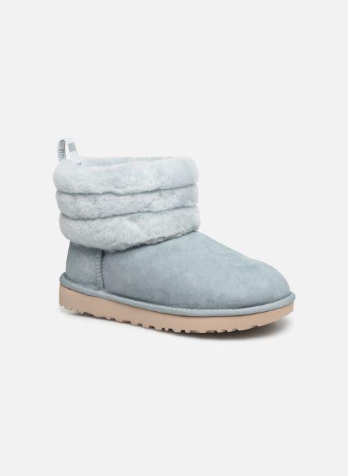 Bottines et boots UGG W Fluff Mini Quilted Bleu vue détail/paire