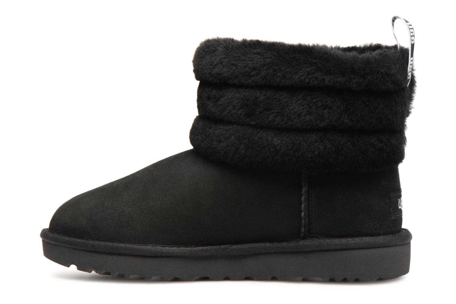 Bottines et boots UGG W Fluff Mini Quilted Noir vue face