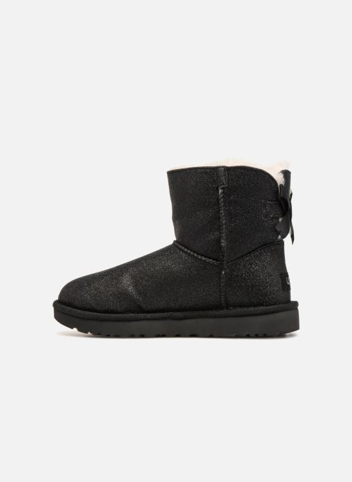 Bottines et boots UGG W Mini Bailey Bow Sparkle Noir vue face