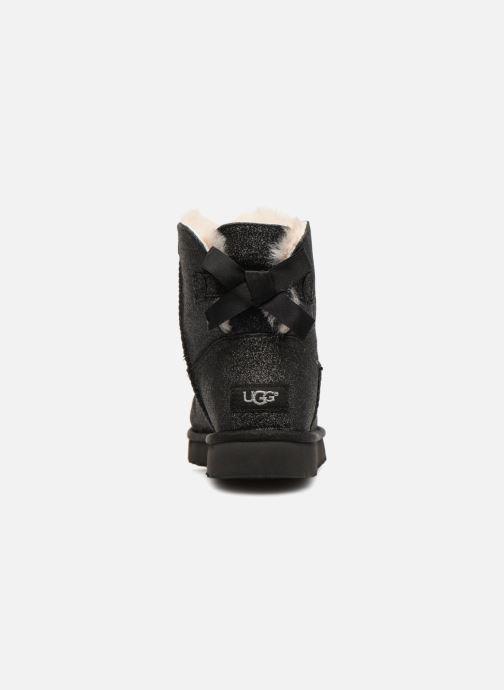 Botines  UGG W Mini Bailey Bow Sparkle Negro vista lateral derecha