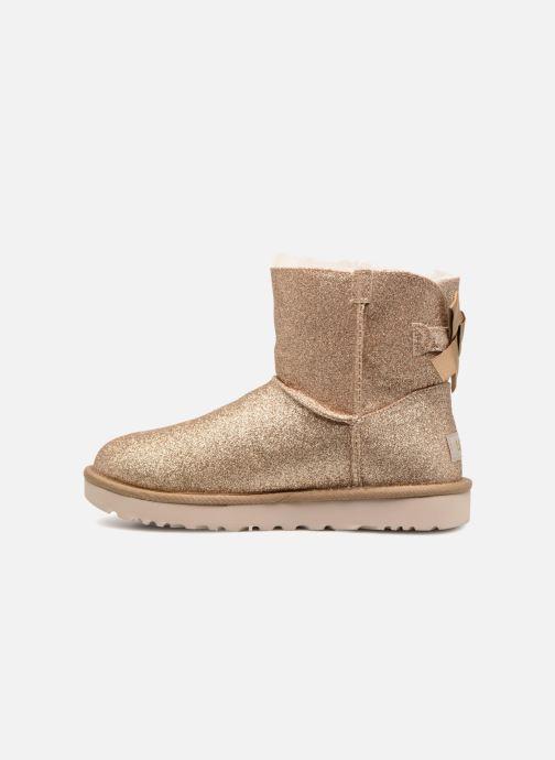 Bottines et boots UGG W Mini Bailey Bow Sparkle Or et bronze vue face