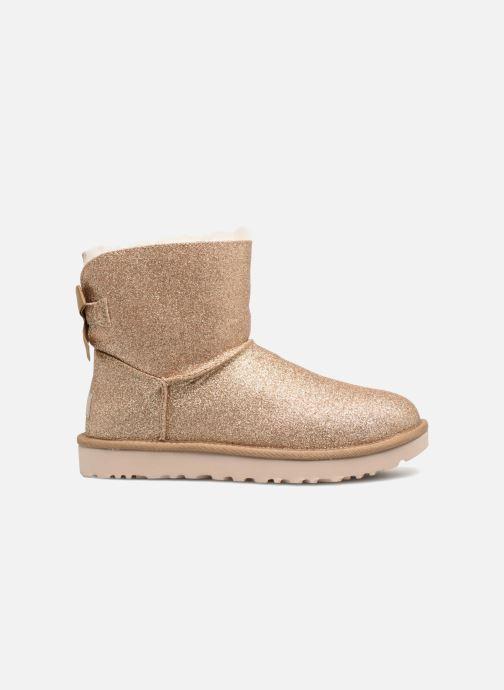 Bottines et boots UGG W Mini Bailey Bow Sparkle Or et bronze vue derrière
