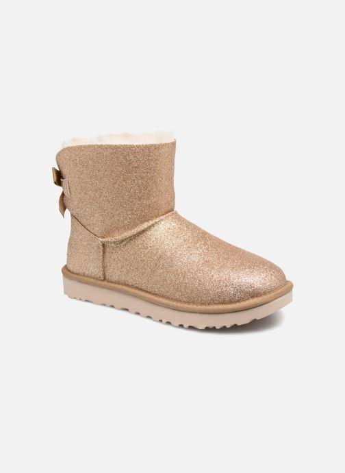 Bottines et boots UGG W Mini Bailey Bow Sparkle Or et bronze vue détail/paire