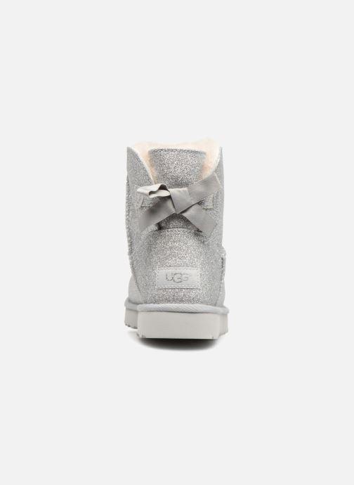 Bottines et boots UGG W Mini Bailey Bow Sparkle Argent vue droite