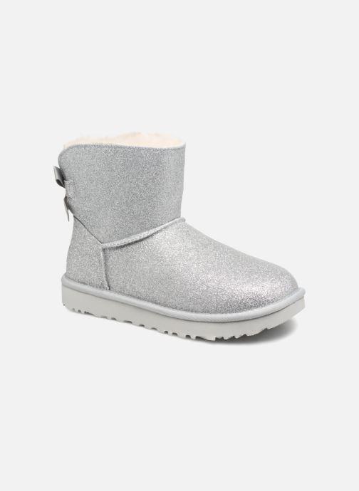 Bottines et boots UGG W Mini Bailey Bow Sparkle Argent vue détail/paire