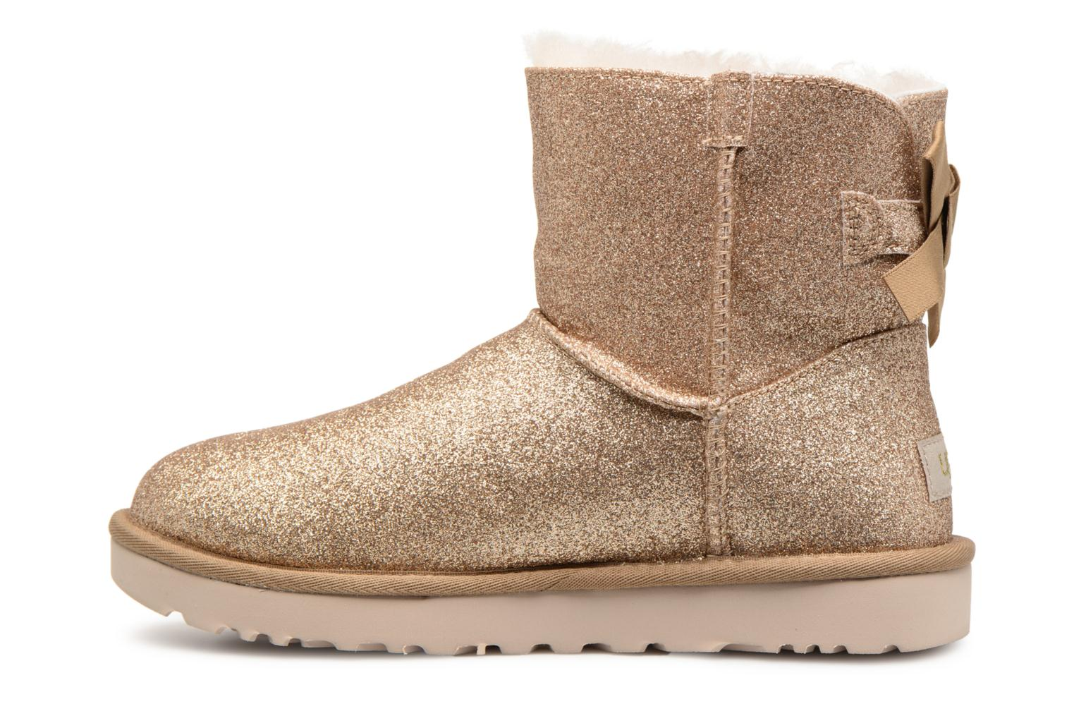 Bottines et boots UGG W Mini Bailey Bow Sparkle Or et bronze vue face