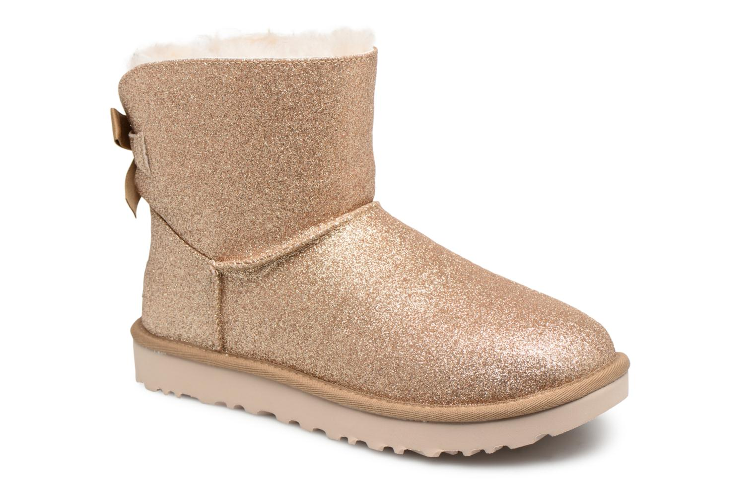 Bottines et boots UGG W Mini Bailey Bow Sparkle Or et bronze vue détail/paire