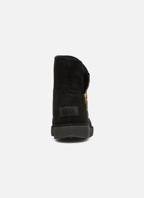 Bottines et boots UGG W Kip Noir vue droite