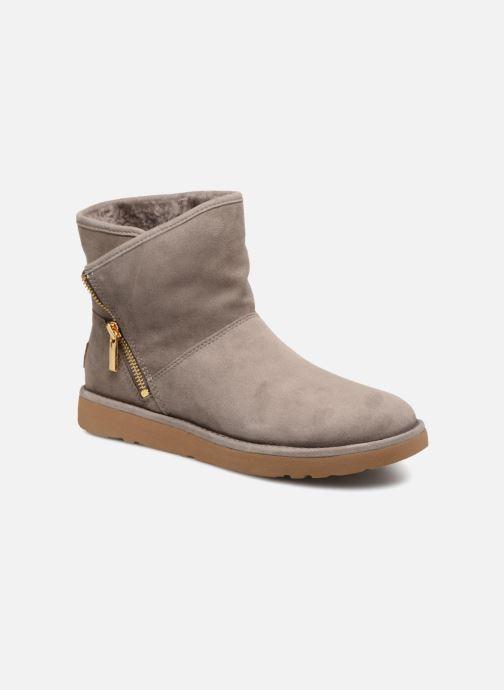 Bottines et boots UGG W Kip Gris vue détail/paire