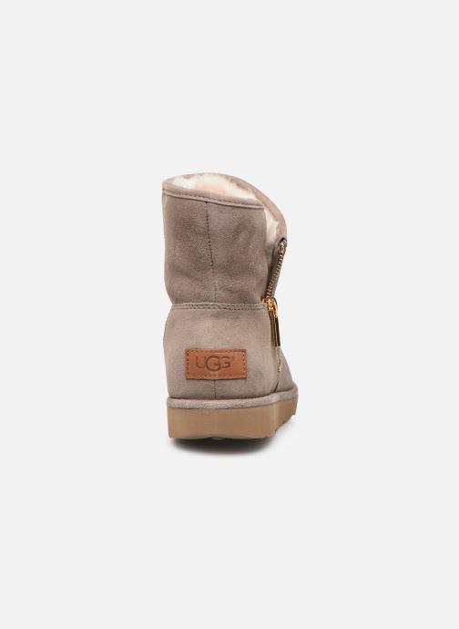 Bottines et boots UGG W Kip Gris vue droite