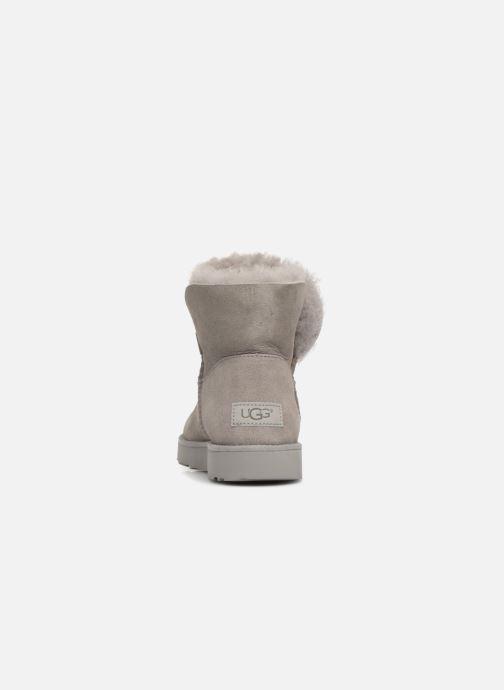 Boots UGG W Classic Cuff Mini Grå Bild från höger sidan
