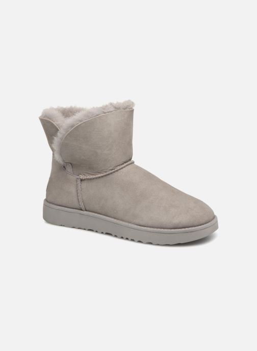 Bottines et boots UGG W Classic Cuff Mini Gris vue détail/paire
