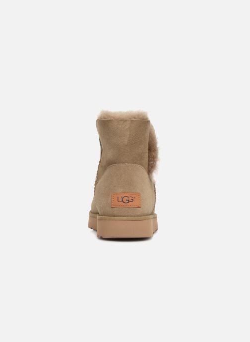 Bottines et boots UGG W Classic Cuff Mini Vert vue droite