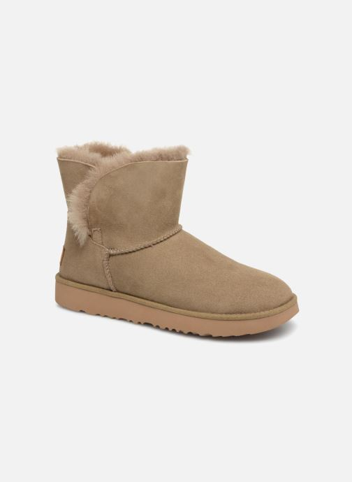 Bottines et boots UGG W Classic Cuff Mini Vert vue détail/paire