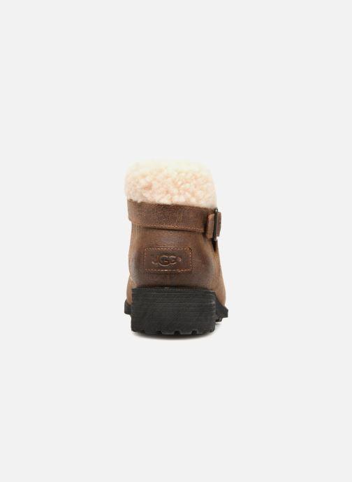 Bottines et boots UGG W Benson Boot Marron vue droite