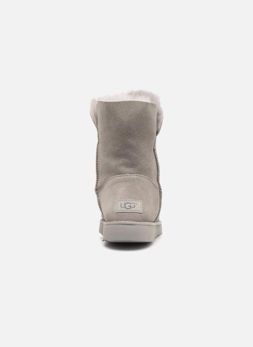 Bottines et boots UGG W Classic Cuff Short Gris vue droite