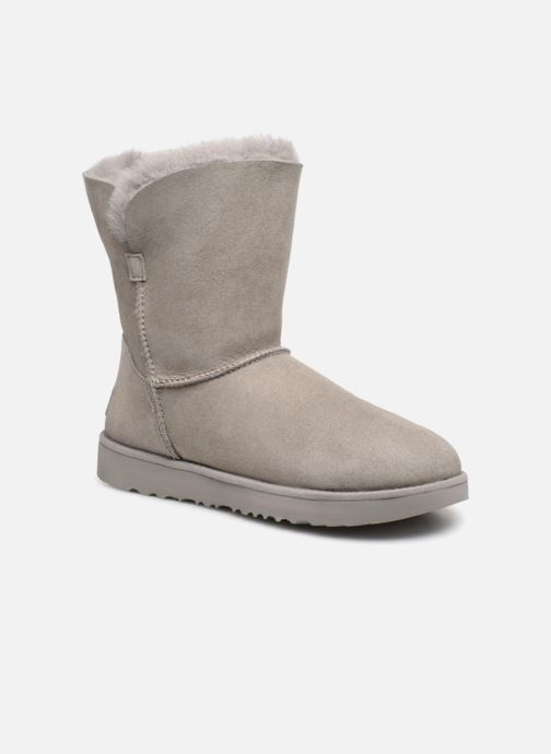 Bottines et boots UGG W Classic Cuff Short Gris vue détail/paire