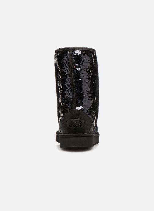 Bottines et boots UGG W Classic Short Sequin Noir vue droite