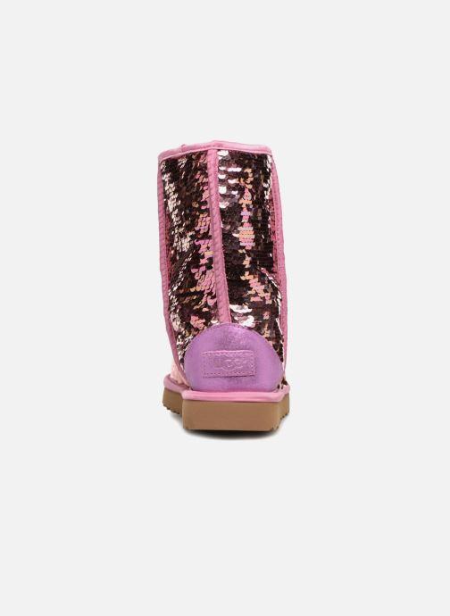 Bottines et boots UGG W Classic Short Sequin Rose vue droite
