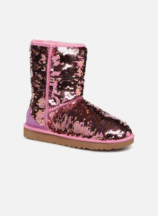 Bottines et boots UGG W Classic Short Sequin Rose vue détail/paire