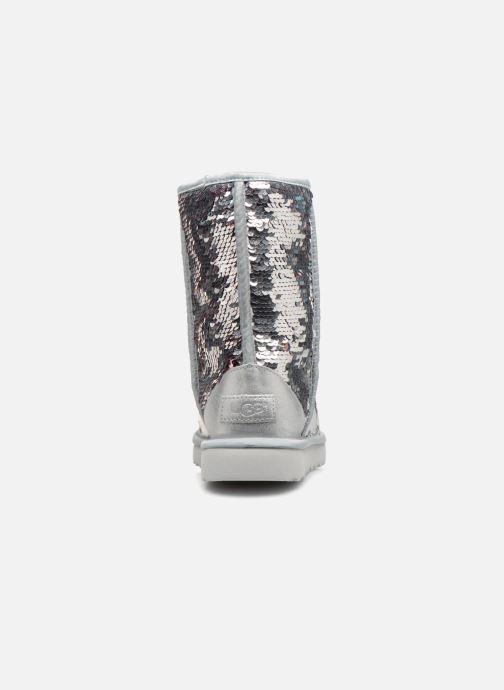 Bottines et boots UGG W Classic Short Sequin Argent vue droite