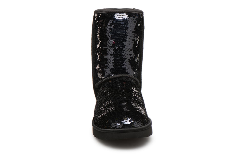 Bottines et boots UGG W Classic Short Sequin Noir vue portées chaussures