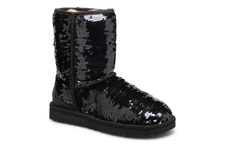 Bottines et boots UGG W Classic Short Sequin Noir vue détail/paire