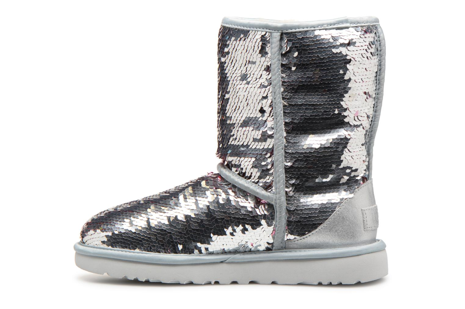 Bottines et boots UGG W Classic Short Sequin Argent vue face