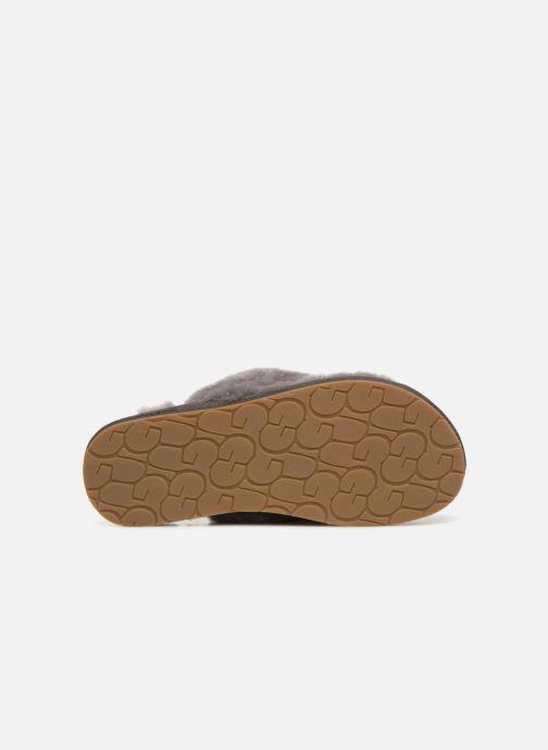 Pantofole UGG Fluff Flip Flop III Grigio immagine dall'alto